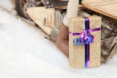 Servizio motorizzato del regalo di Natale immagine stock libera da diritti