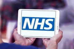 Servizio nazionale sanitario, NHS, logo fotografie stock libere da diritti