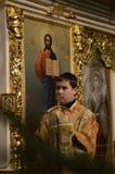 Servizio nella chiesa ortodossa Fotografia Stock Libera da Diritti