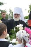 Servizio nella chiesa ortodossa Fotografie Stock Libere da Diritti
