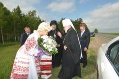 Servizio nella chiesa ortodossa Immagini Stock