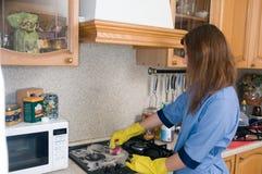 Servizio professionale di pulizia Fotografie Stock