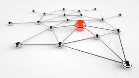 Servizio rete (rosso) Fotografia Stock