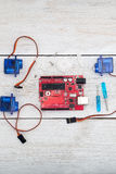 Servo, circuit board, components and assemblies for the robot, Royalty Free Stock Photography