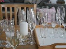 Serw szampan obraz royalty free