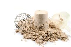 Serwatki proteiny proszek Obrazy Stock