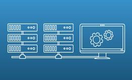 Serwer infrastruktury zarządzania rozwiązanie Fotografia Stock