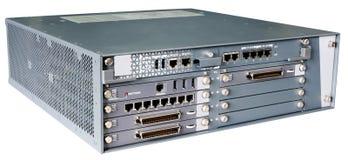 Serwer komunikacyjny odizolowywający na bielu Obraz Royalty Free