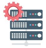 Serwer, położenia które mogą być łatwo redagują lub modyfikują Odizolowywał ilustracja wektor