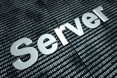 Serweru binarny tło Obrazy Stock