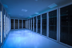 Serweru pokój lub serwerów komputery ilustracja wektor