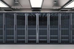 Serweru pokój lub serwerów komputery ilustracji