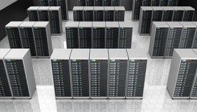 Serweru pokój w datacenter, grona ilustracja wektor