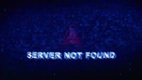 Serweru teksta Cyfrowego hałasu drgania usterki wykoślawienia skutka błędu Znajdująca animacja ilustracji