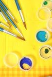 serwetka myje nowego wyznaczonym żółty Zdjęcie Royalty Free