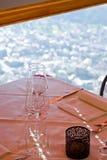 serwetki płytkę tabeli dekoracji Fotografia Royalty Free