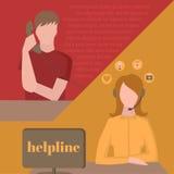 Serwis pomocy, centrum telefoniczne Zdjęcia Royalty Free