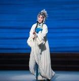 """Sery e desintegração do ato da infelicidade- sétima do  branco de Opera""""Madame Snake†das famílias-Kunqu foto de stock"""