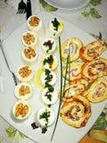 Sery i omelette fotografia royalty free