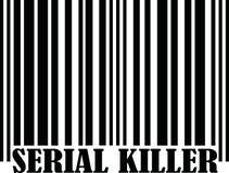 Seryjny Zabójca z barcode royalty ilustracja