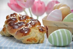 Süßes Deutsch-Ostern-Brot Stockbild
