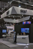 SES Global Satellite Services Provider booth Royalty Free Stock Image
