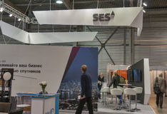 SES Global Satellite Services Provider booth Stock Image