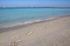 Beach Ses Illetas, Formentera,   Spain Stock Photo