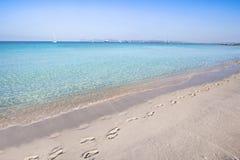 Beach Ses Illetas, Formentera,   Spain. Ses Illetas beach in Formentera,  Balearic Islands, Spain Stock Images
