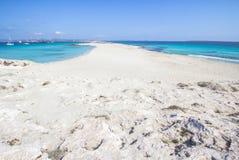 Beach Ses Illetas, Formentera,   Spain. Ses Illetas beach in Formentera,  Balearic Islands, Spain Stock Photos