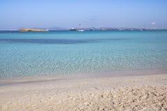 Beach Ses Illetas, Formentera,   Spain. Ses Illetas beach in Formentera,  Balearic Islands, Spain Stock Image