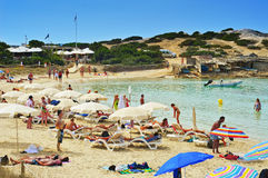 Ses Illetes Beach in Formentera, Balearic Islands, Spain Royalty Free Stock Image