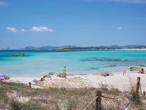 Ses Illetes Beach Stock Photo