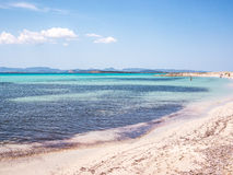 Ses Illetes beach. The waters of Ses Illetes beach, Formentera Stock Photo