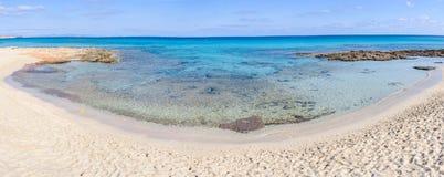Ses Platgetes plaża w Formentera, Hiszpania Obraz Stock