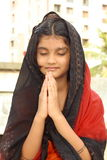 Ses prières du matin photographie stock libre de droits