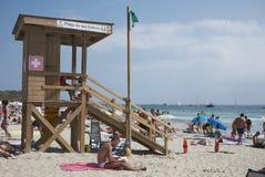 Ses Salinas beach. Ibiza, Balearic Islands, Spain - August 31, 2015: Ses Salinas beach in ibiza Royalty Free Stock Photos