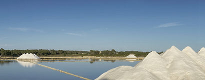 Ses salines in colonia sant jordi. Mallorca, balearic islands Royalty Free Stock Photos
