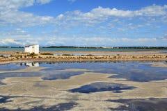 Ses Salines Formentera saltworks horizon balearic Stock Photos
