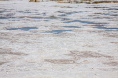 Ses Salines Formentera saltworks horizon balearic islands Royalty Free Stock Photos