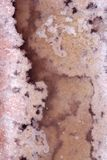 Ses Salines Formentera saltworks salt texture Stock Photos
