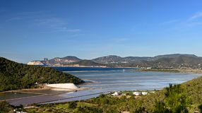Ses Salines, Ibiza, Balearic Island, Espanha Fotografia de Stock Royalty Free