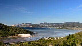 Ses Salines, Ibiza, Balearic Island, Spagna fotografia stock libera da diritti