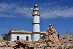 Ses Salines lighthouse Royalty Free Stock Photo