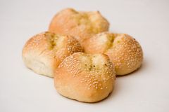 Sesam-Brot Rolls Lizenzfreies Stockbild