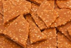 Sesam-Toffee-Nahaufnahme Stockbilder