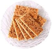 Sesamcakes met cacao en suiker Royalty-vrije Stock Afbeelding