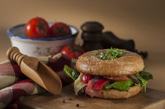 Sesame bagel Royalty Free Stock Photography