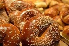 Sesame bagels Stock Images