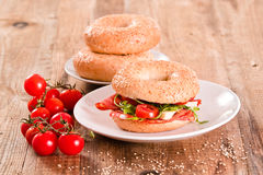 Sesame bagels. Royalty Free Stock Photo